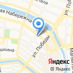 Граника на карте Астрахани