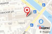 Схема проезда до компании Виктория в Астрахани