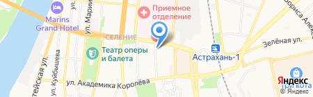Спутник ТВ на карте Астрахани