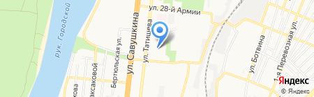 Два кита на карте Астрахани