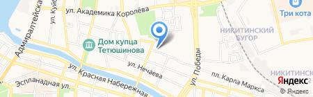 48-й Меридиан на карте Астрахани