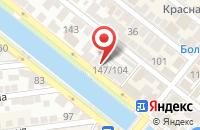 Схема проезда до компании Островок природы в Астрахани