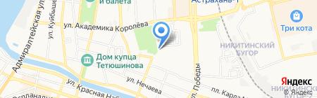 Виноградинка на карте Астрахани