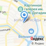 Сластена на карте Астрахани