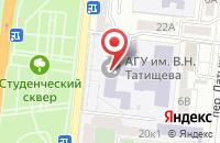 Схема проезда до компании Каспийская литература в Астрахани