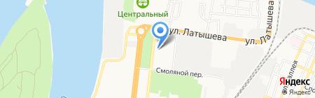 АГУ на карте Астрахани