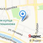 Магазин домашнего текстиля на карте Астрахани
