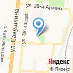 Вектор на карте Астрахани