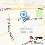 Киоск по продаже молочной продукции и яиц на карте Астрахани