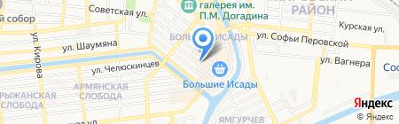 МакВик на карте Астрахани