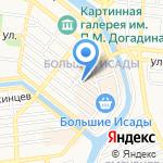 Магазин открыток на карте Астрахани