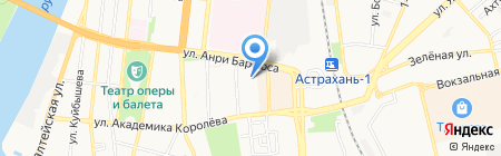 Центурион на карте Астрахани
