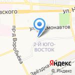 Пенный край на карте Астрахани