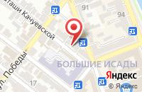 Схема проезда до компании Торнадо в Астрахани