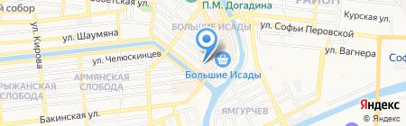 Мастерские на улице Бабушкина на карте Астрахани