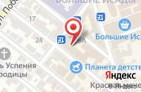 Схема проезда до компании Парад одежды в Астрахани