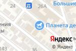 Схема проезда до компании Планета детства в Астрахани