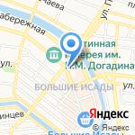 Юбилейный на карте Астрахани
