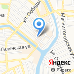 Мастерские на Бабушкина на карте Астрахани