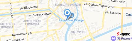 Прибой на карте Астрахани