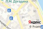 Схема проезда до компании Юбилейный в Астрахани