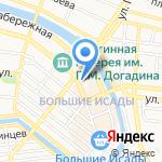 Монарх на карте Астрахани