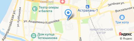 Банкомат АКБ Росбанк на карте Астрахани
