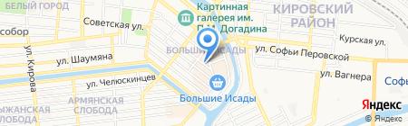 Магазин спортивных товаров на ул. Чалабяна на карте Астрахани