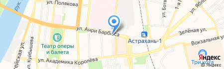 Караван на карте Астрахани