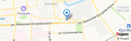 Ирбис на карте Астрахани