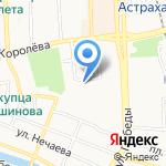 Сеть магазинов дверей на карте Астрахани