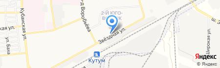 Продовольственный магазин на Звёздной на карте Астрахани