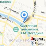 Ван на карте Астрахани