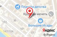 Схема проезда до компании Текстильный мир в Астрахани
