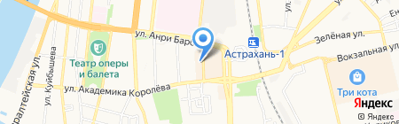 Остров на карте Астрахани