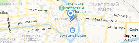 Причал на карте Астрахани