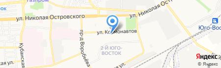 Магазин детской одежды на ул. Космонавтов на карте Астрахани