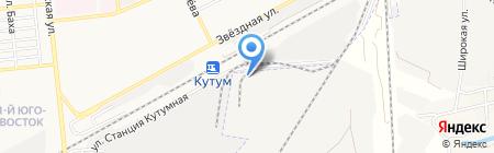 Корунд-Строй на карте Астрахани