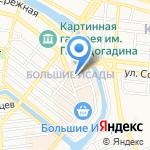 Деньга на карте Астрахани