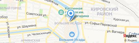 Золото России на карте Астрахани