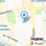 Магазин обоев на карте Астрахани