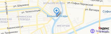Стройматериалы на карте Астрахани