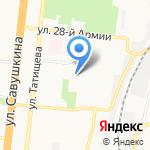Средняя общеобразовательная школа №8 на карте Астрахани