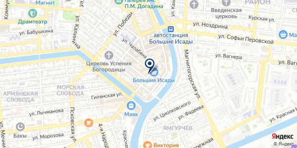 Юнистрим на карте Астрахани