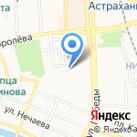Русская зима на карте Астрахани