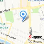 Магазин спортивных товаров на карте Астрахани