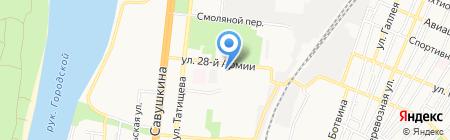 Бэлль на карте Астрахани