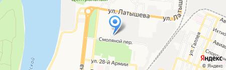 Автодуш на карте Астрахани