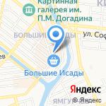 Мясной двор на карте Астрахани