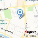 Лангуст на карте Астрахани